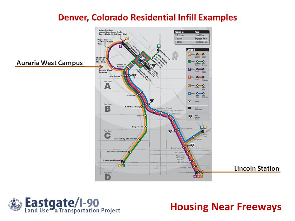 Housing Near Freeways Auraria West Campus Lincoln Station Denver, Colorado Residential Infill Examples