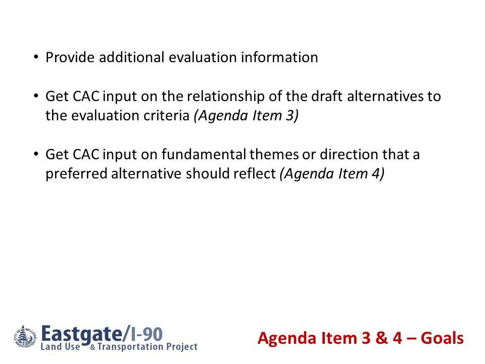 Agenda Item 4 – Discussion of Preferred Alternative