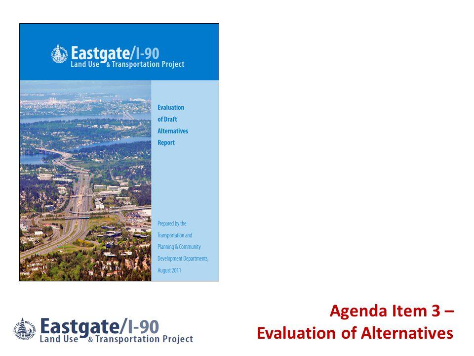 Agenda Item 3 – Evaluation of Alternatives