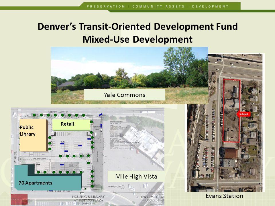 Denvers Transit-Oriented Development Fund Preservation Villa TOD Dahlia Apartments