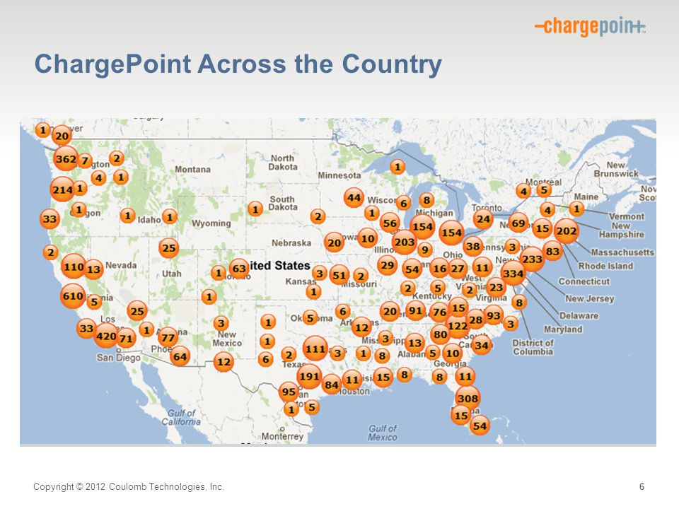 Copyright © 2012 Coulomb Technologies, Inc. ChargePoint Across the Country 6
