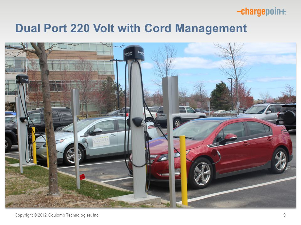 Copyright © 2012 Coulomb Technologies, Inc. Dual Port 220 Volt with Cord Management 9