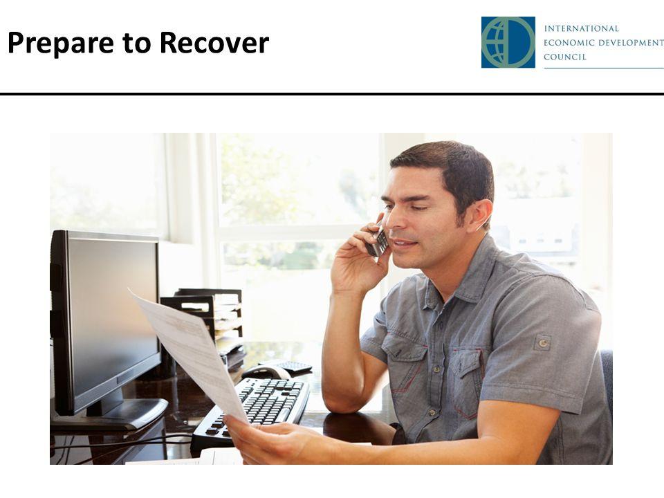 Prepare to Recover