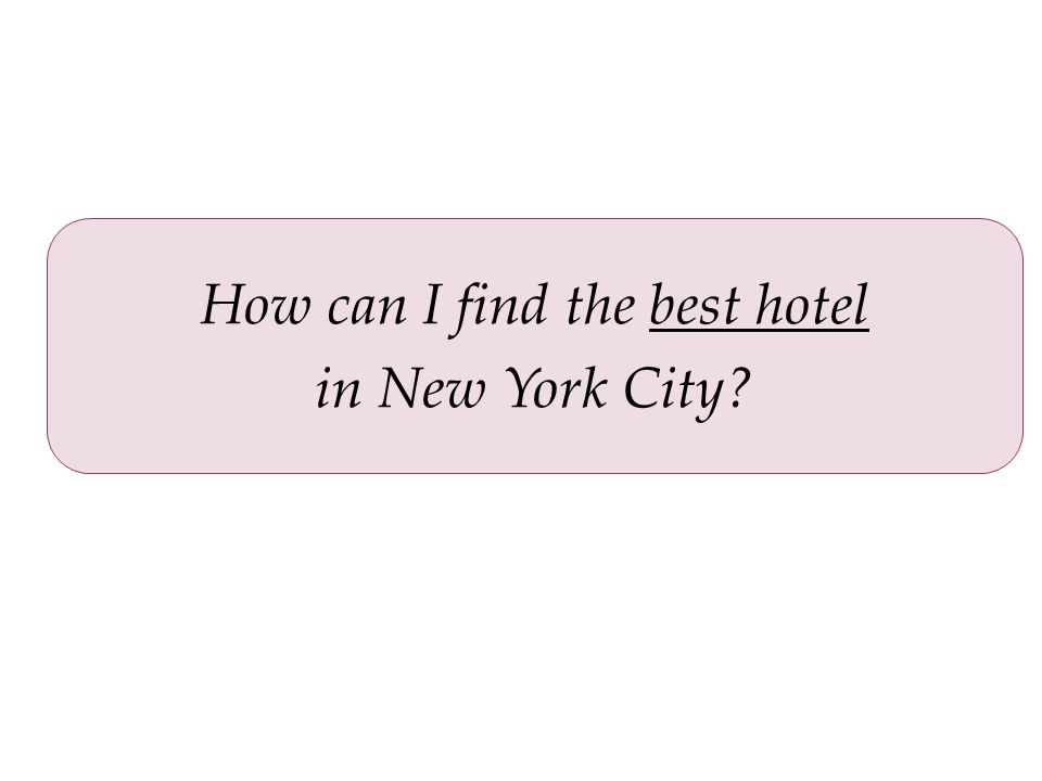 How can I find the best hotel in New York City?