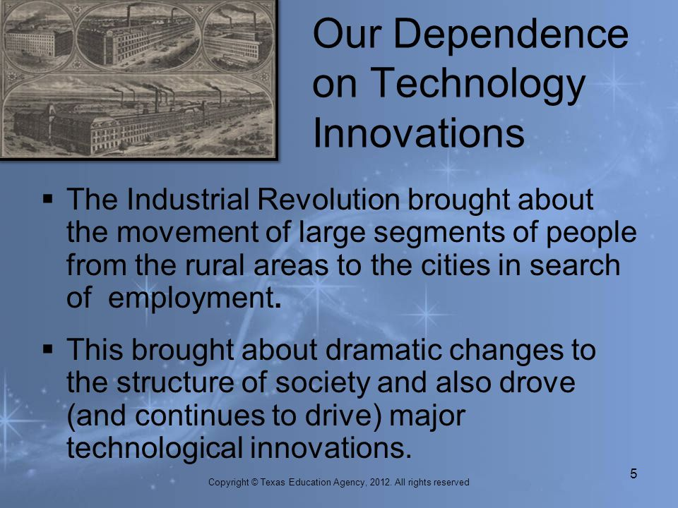 The Industrial Revolution brought about the movement of large segments of people from the rural areas to the cities in search of employment. This brou