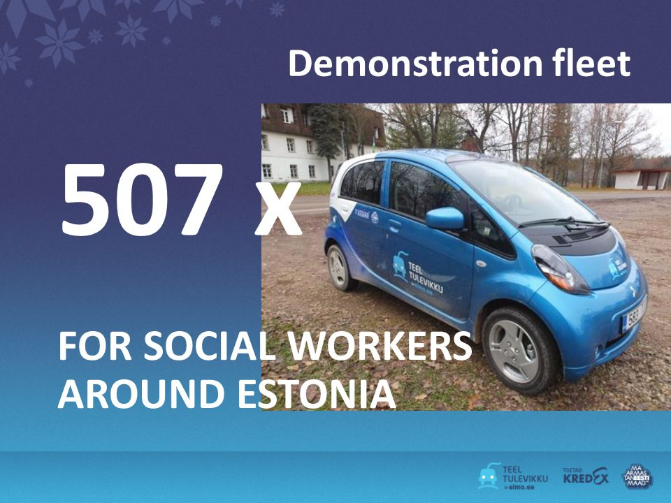 Demonstration fleet 507 x FOR SOCIAL WORKERS AROUND ESTONIA