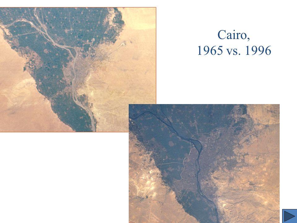 Cairo, 1965 vs. 1996
