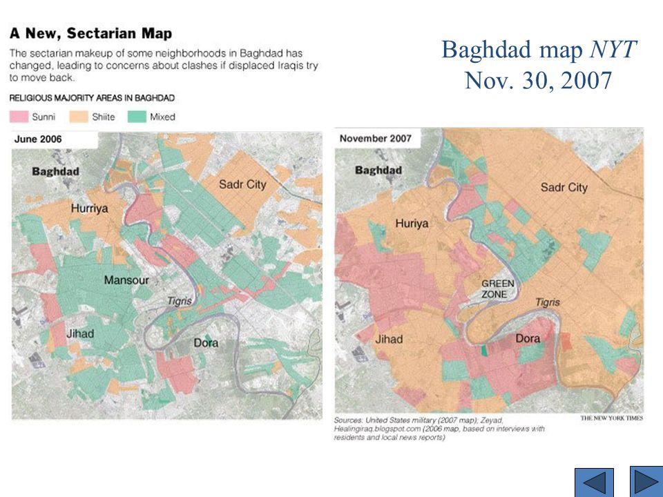 Baghdad map NYT Nov. 30, 2007
