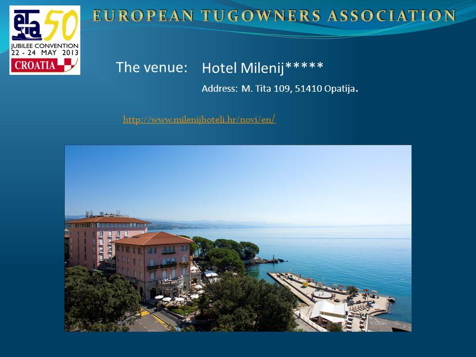 Hotel Milenij***** Address: M. Tita 109, 51410 Opatija. The venue: http://www.milenijhoteli.hr/novi/en /