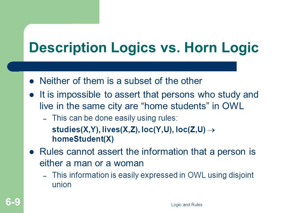 Description Logics vs.