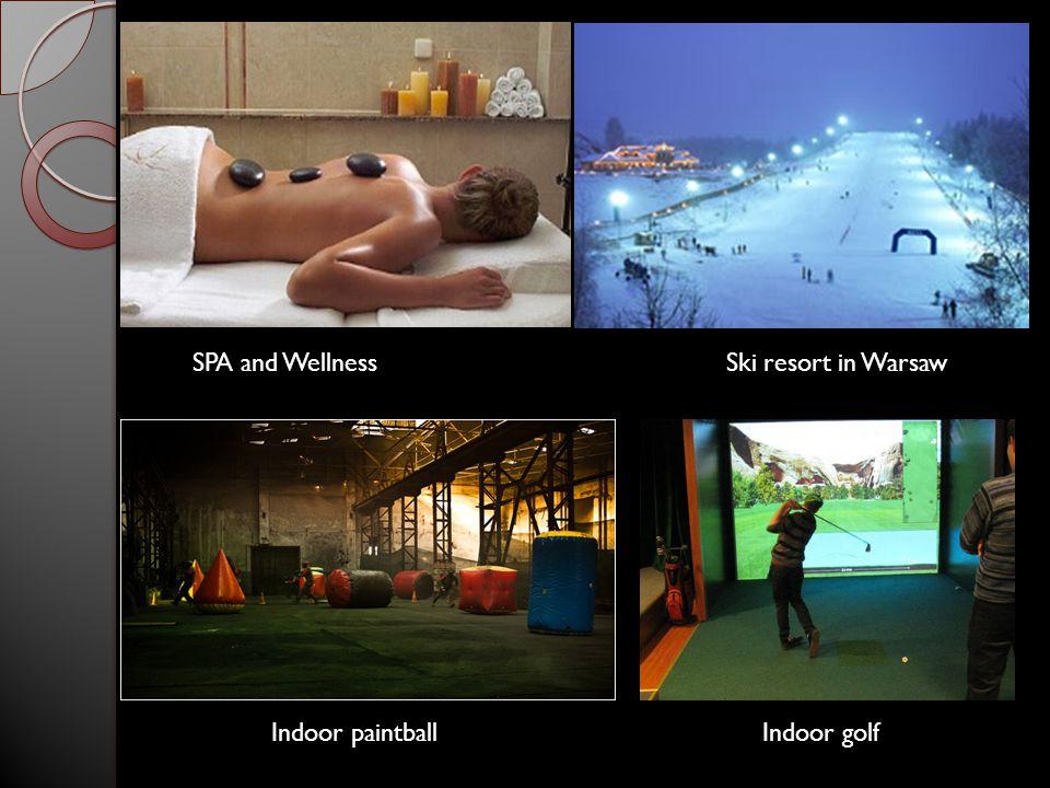 SPA and Wellness Ski resort in Warsaw Indoor paintballIndoor golf