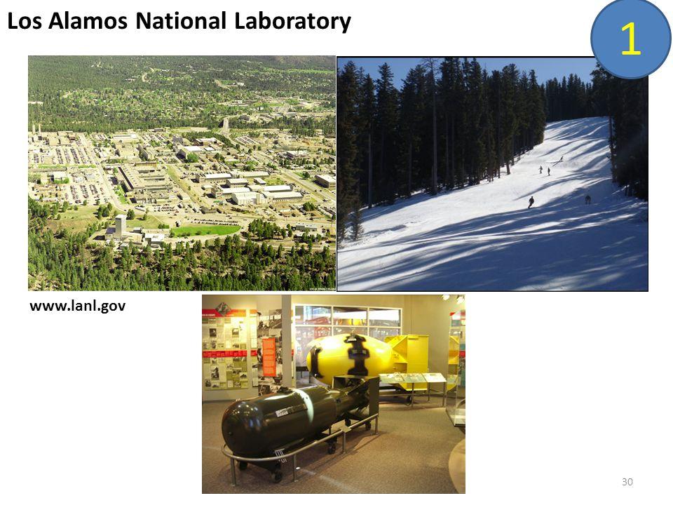 30 Los Alamos National Laboratory www.lanl.gov 1