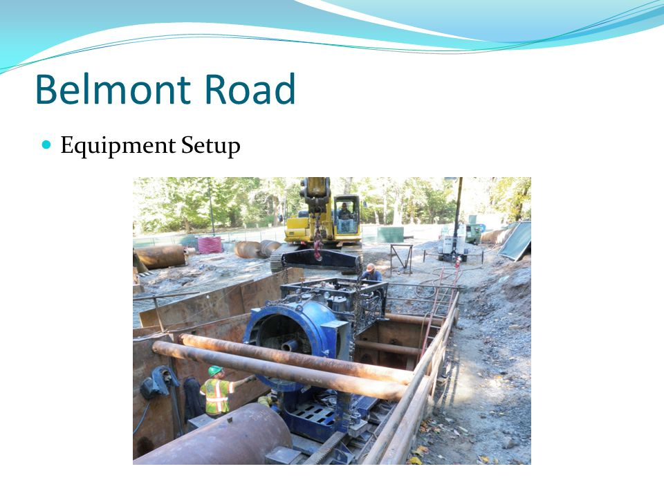 Belmont Road Equipment Setup