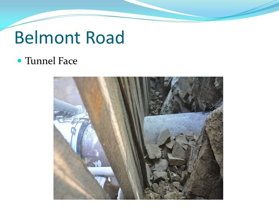 Belmont Road Tunnel Face