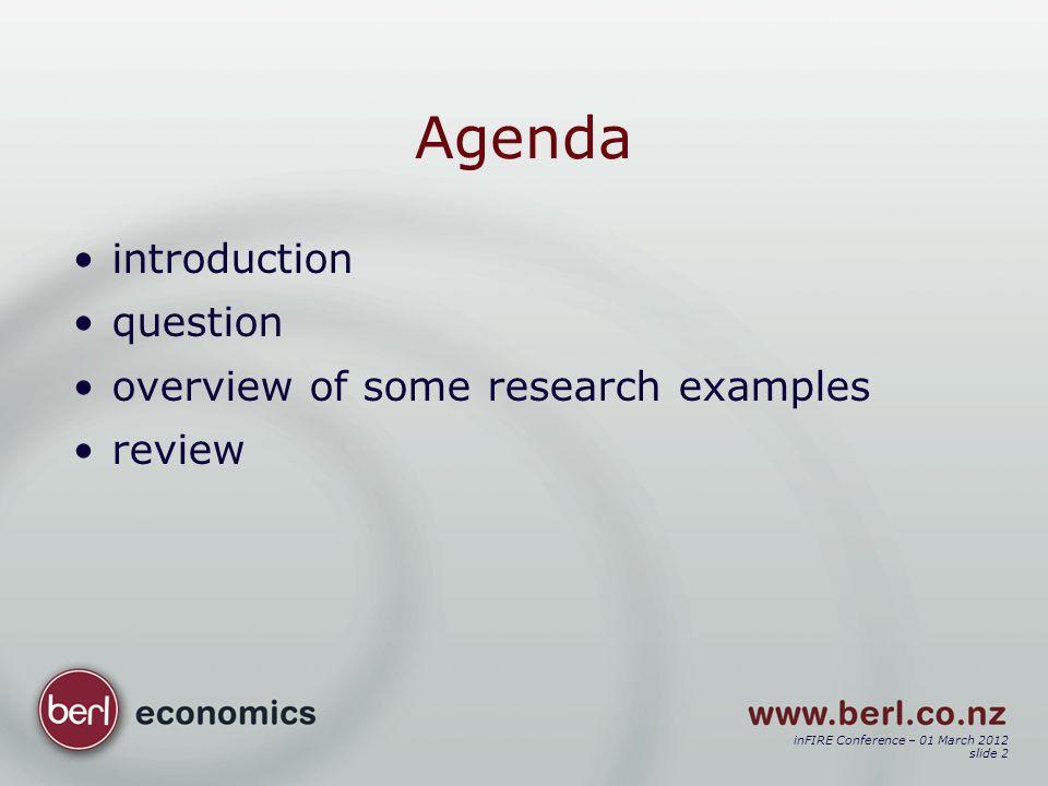 inFIRE Conference – 01 March 2012 slide 23 Outcome e.g.