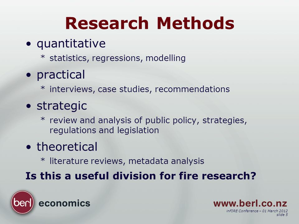 inFIRE Conference – 01 March 2012 slide 6 To promote fire safety e.g.