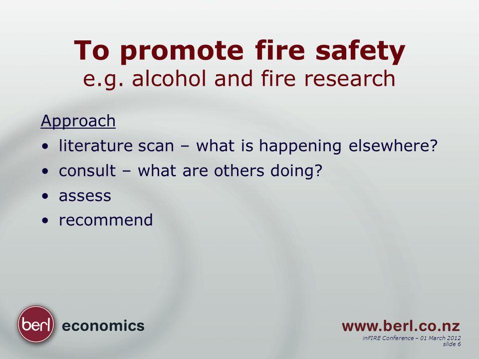 inFIRE Conference – 01 March 2012 slide 17 Outcome e.g.