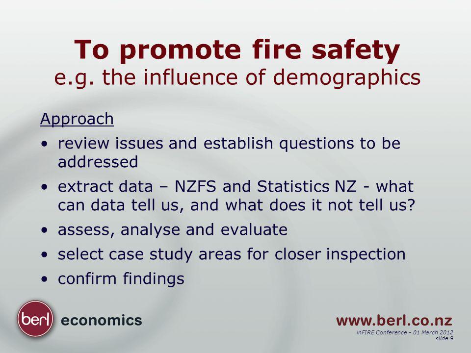 inFIRE Conference – 01 March 2012 slide 20 Outcome e.g.