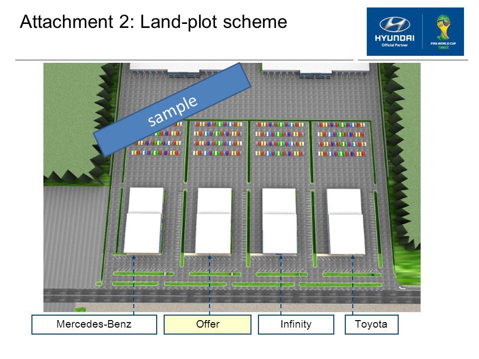 Attachment 2: Land-plot scheme Mercedes-BenzOfferInfinityToyota sample