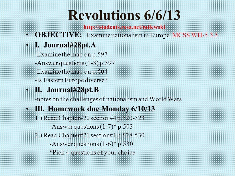 Revolutions 6/5/13 http://mrmilewski.com OBJECTIVE: Examine Wheel of Fortune.