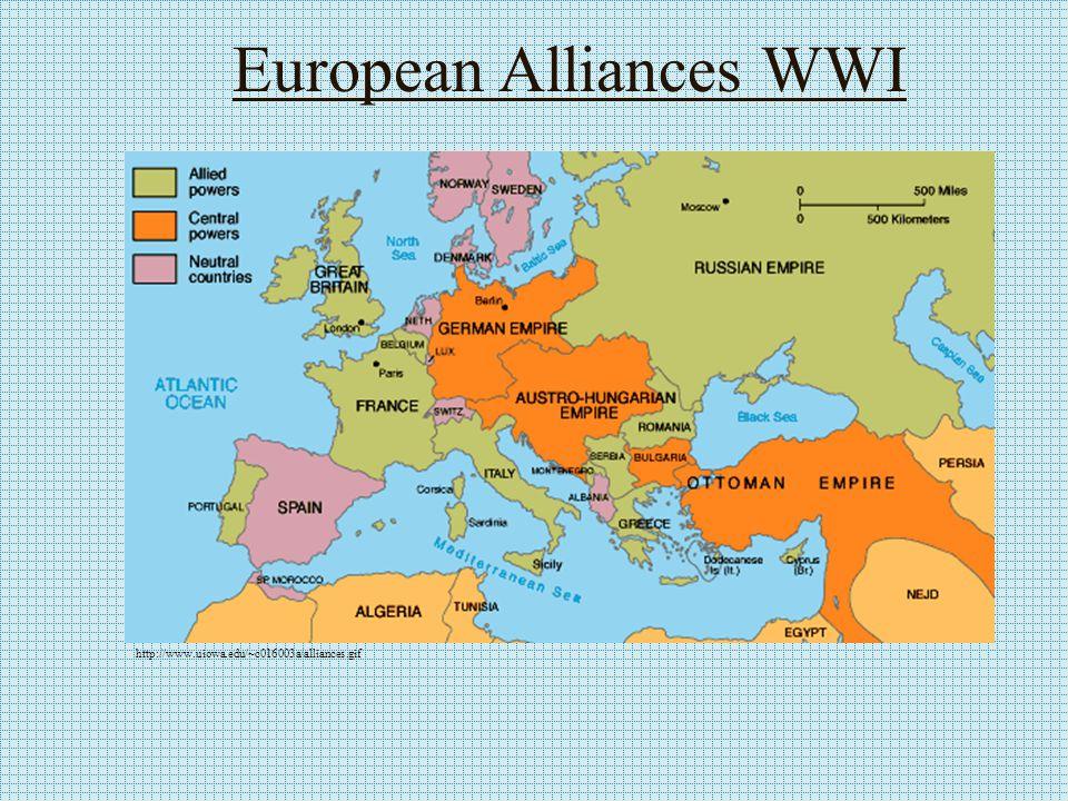 The Outbreak of War June 28, 1914 - Archduke Franz Ferdinand (German Speaking) assassinated by Serbian Nationalist (Slavic Speaker).