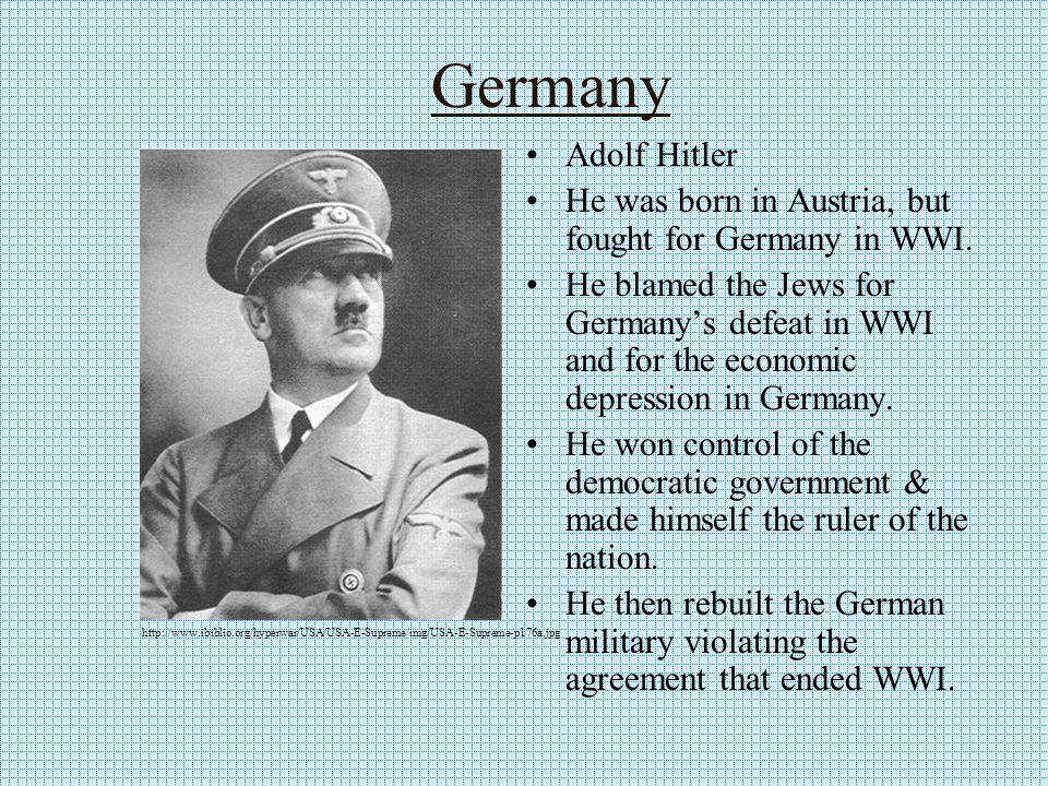Italy Benito Mussolini Wanted to rebuild the Roman Empire.