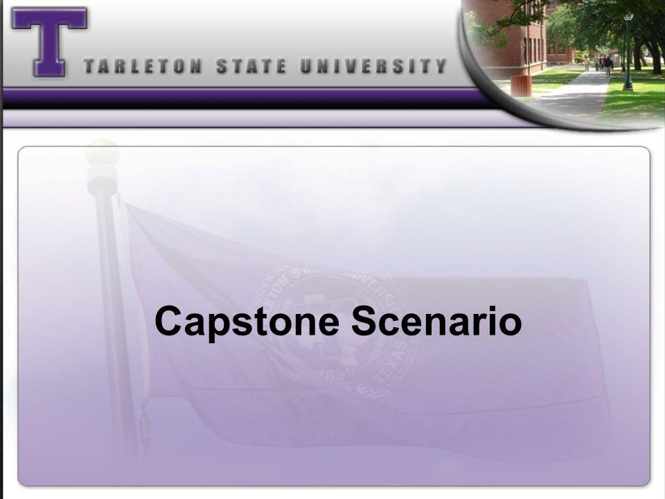 Capstone Scenario