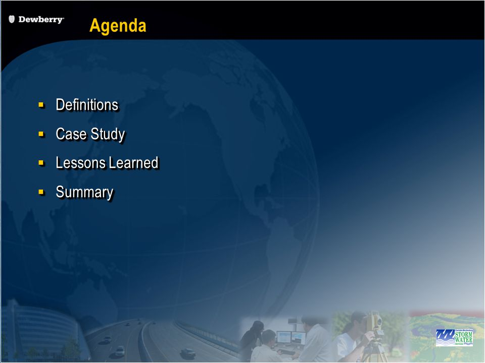 Agenda Definitions Definitions Case Study Case Study Lessons Learned Lessons Learned Summary Summary Definitions Definitions Case Study Case Study Lessons Learned Lessons Learned Summary Summary