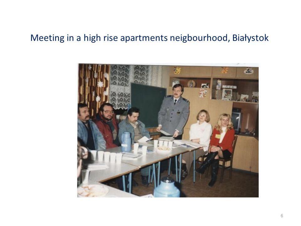 Meeting in a high rise apartments neigbourhood, Białystok 6