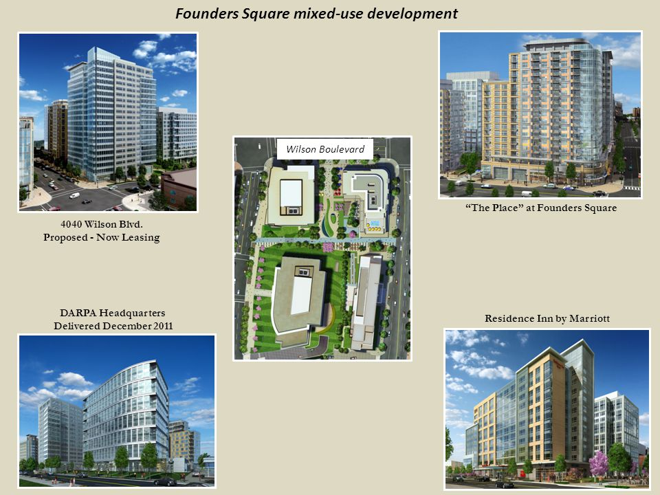 Founders Square mixed-use development 4040 Wilson Blvd.