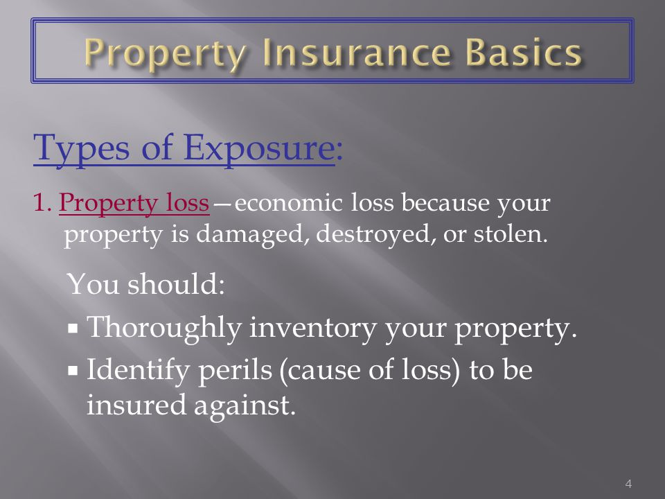Ê Property insurance Ê Liability insurance