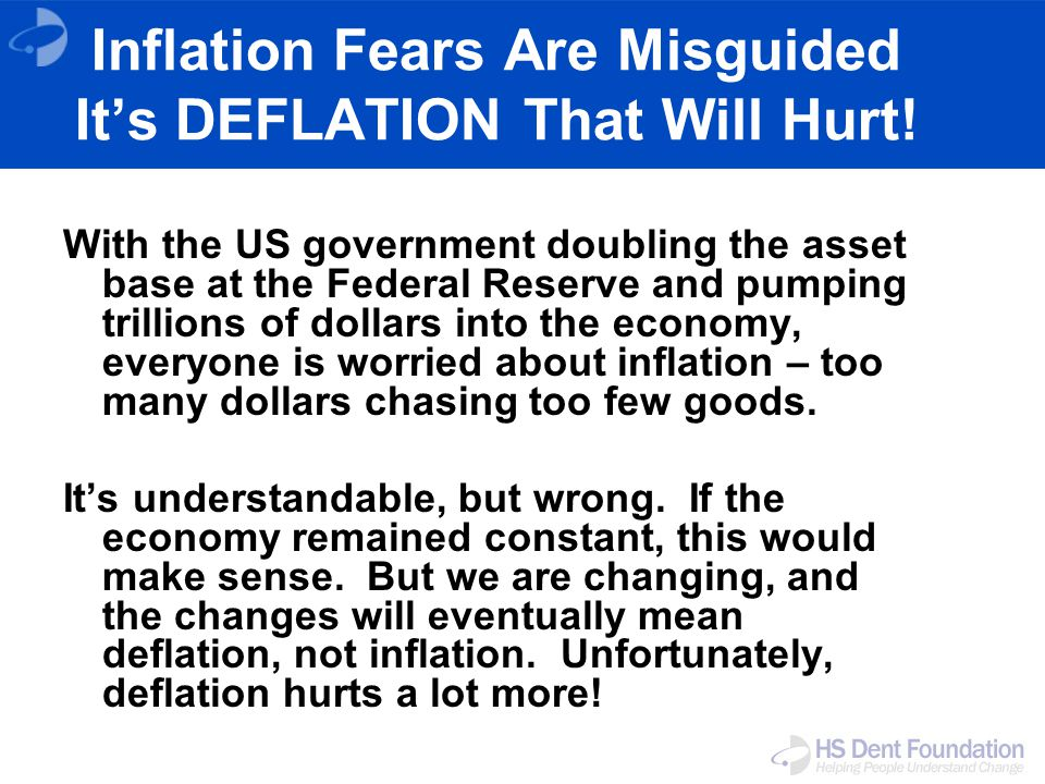Inflation Fears Are Misguided Its DEFLATION That Will Hurt.