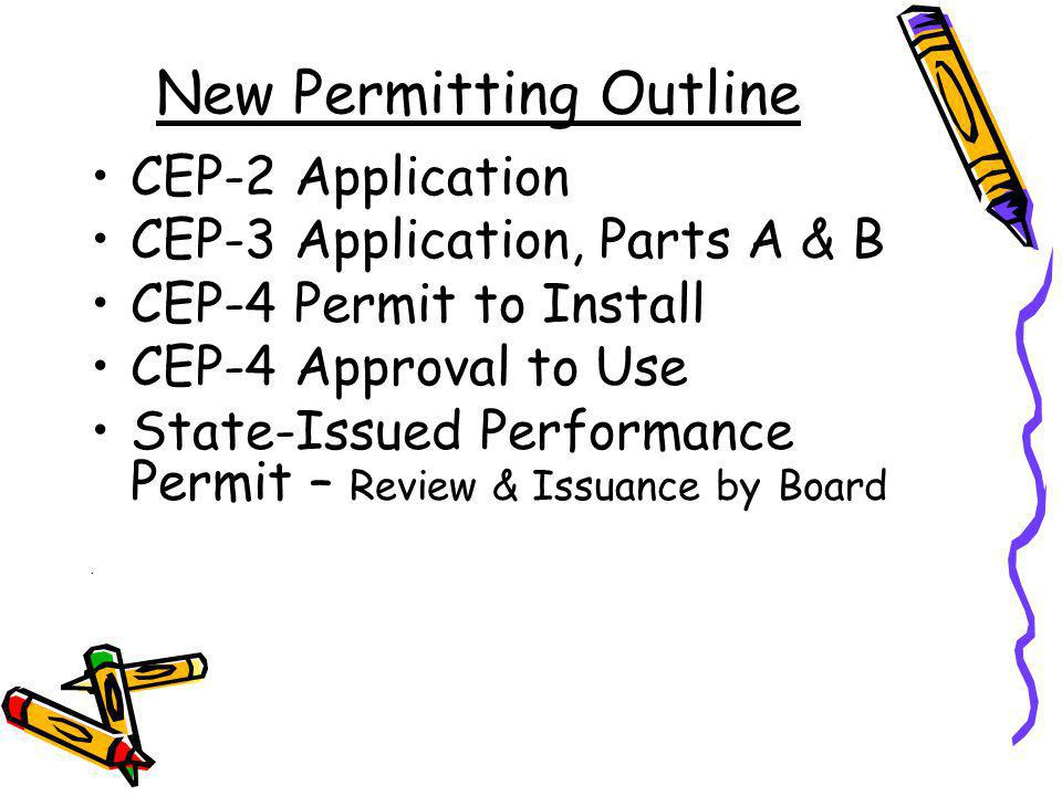 Time Limitations of New Permits & Approvals State-Issued Performance Permits Valid for Five Years Approval for Use Becomes Invalid After Two Years from Approval Date If Its Never Operational