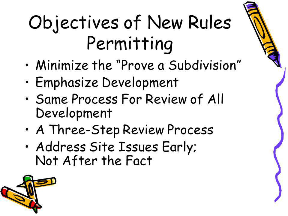 SUBDIVISION LOTS Developer Must Complete SPP Buyer Must Develop in Accordance with Approved SPP Buyer Must Receive Approval from LHD Prior to Diverting from SPP Failure to Follow SPP: Revocation / New evaluation / New submittal Owner Submits Application to Install