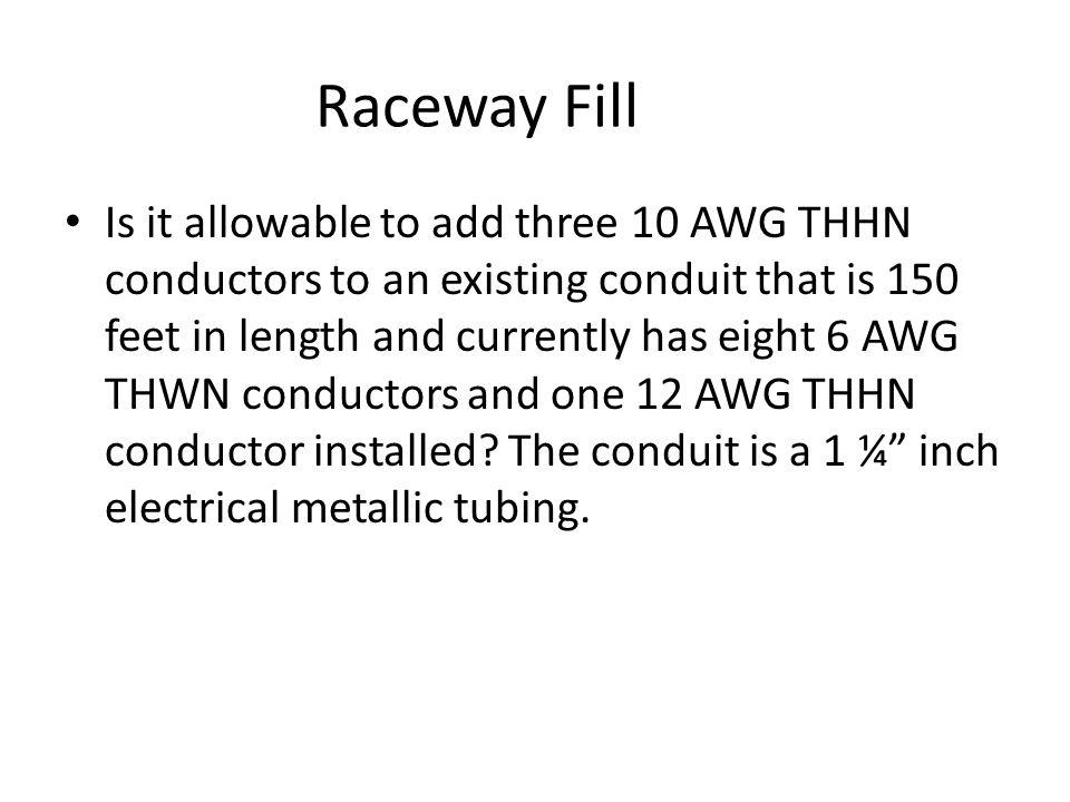 300A ampere service, 500 kcmil AL SE conductors, 500 kcmil AL grounded conductor, 2 AWG copper grounding electrode conductor Lighting= 17500+7250= 24750 va Recepts= 17100 VA- 10000= 7100*.5=3550 10000+ 3550= 13550 va – Motors = Single phase, 208V, ½ hp, 1.9 A varying duty motor, 5 mins434.72 va – Single phase, 208V, 5 hp, 28.7A intermittent duty motor, 30 mins5074.16 va – Single phase, 208V, 10 hp, 48.6 A 5 minute, short time duty motor, 15 mins12130.56 va – (6) single phase, 120V, 1 hp, 120V, 14.8 A, intermittent duty motors, 30 mins16623.36 va Roof Mounted HVAC 58.7 x 1.732 x 208= 21147.03 Total = 93709.83 / 208 /1.732= 260.12 amperes= 300A service 300A at 75C Aluminum = 500 kcmil Service Entrance Conductors Neutral Loads Lighting= 24750 + Recep= 13550 + 120V motors= 16623.36 Total Neutral Load= 54923.36va /120V= 457.69 A.