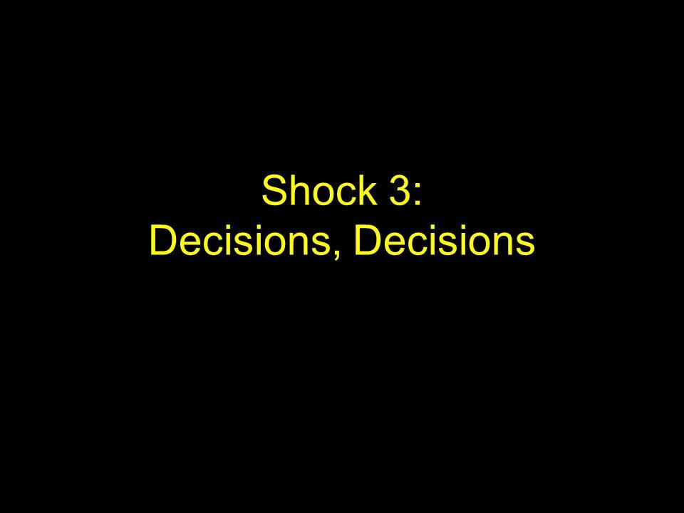Shock 3: Decisions, Decisions