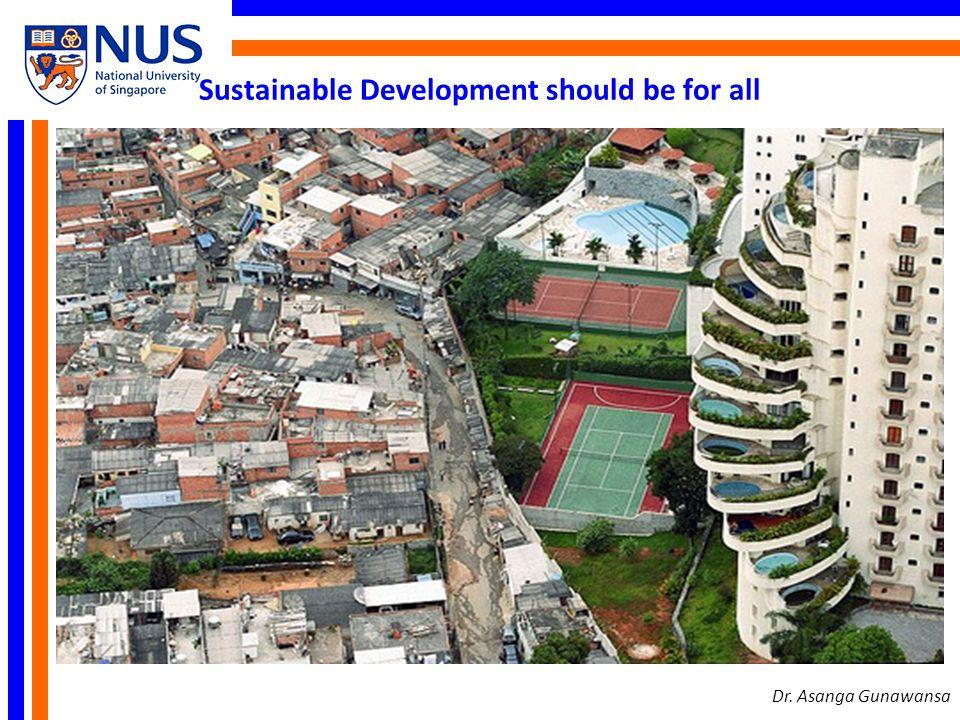 Sustainable Development should be for all Dr. Asanga Gunawansa
