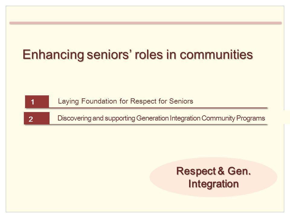 Enhancing seniors roles in communities Respect & Gen.