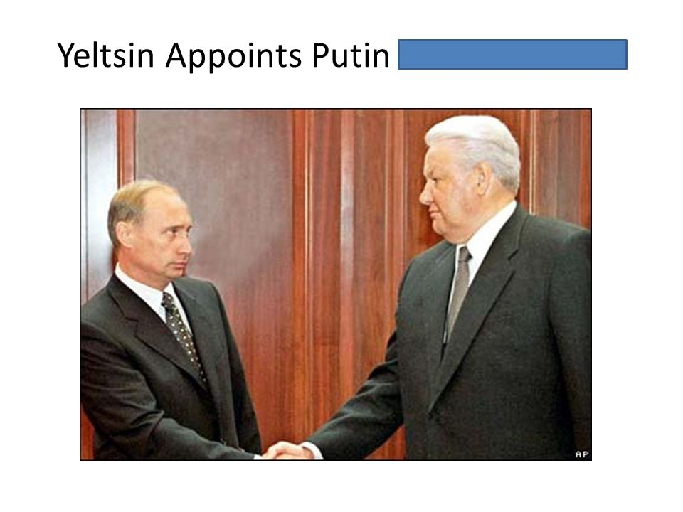 Yeltsin Appoints Putin Prime Minister