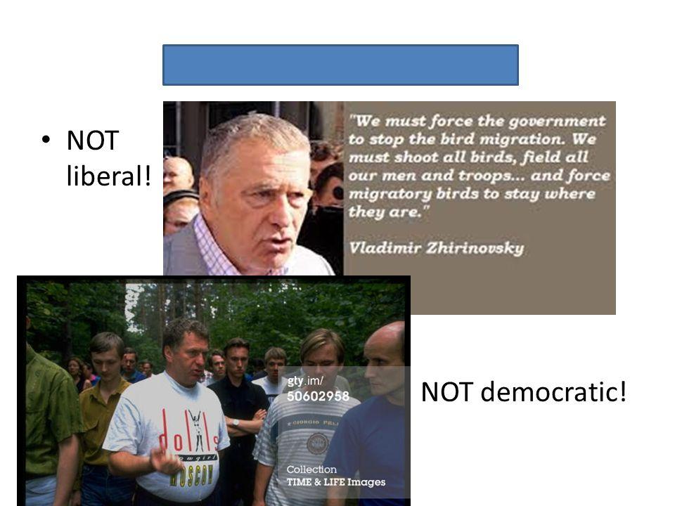 Vladimir Zhirinovsky NOT liberal! NOT democratic!
