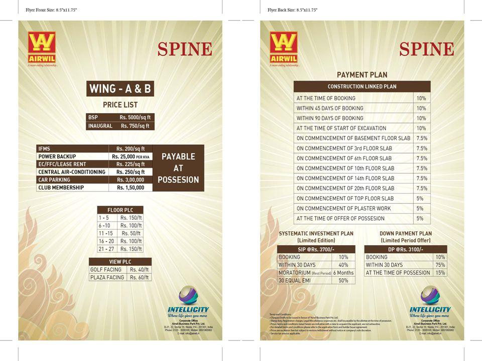 Price List Virtual space BSP@6500/Sq.Ft.