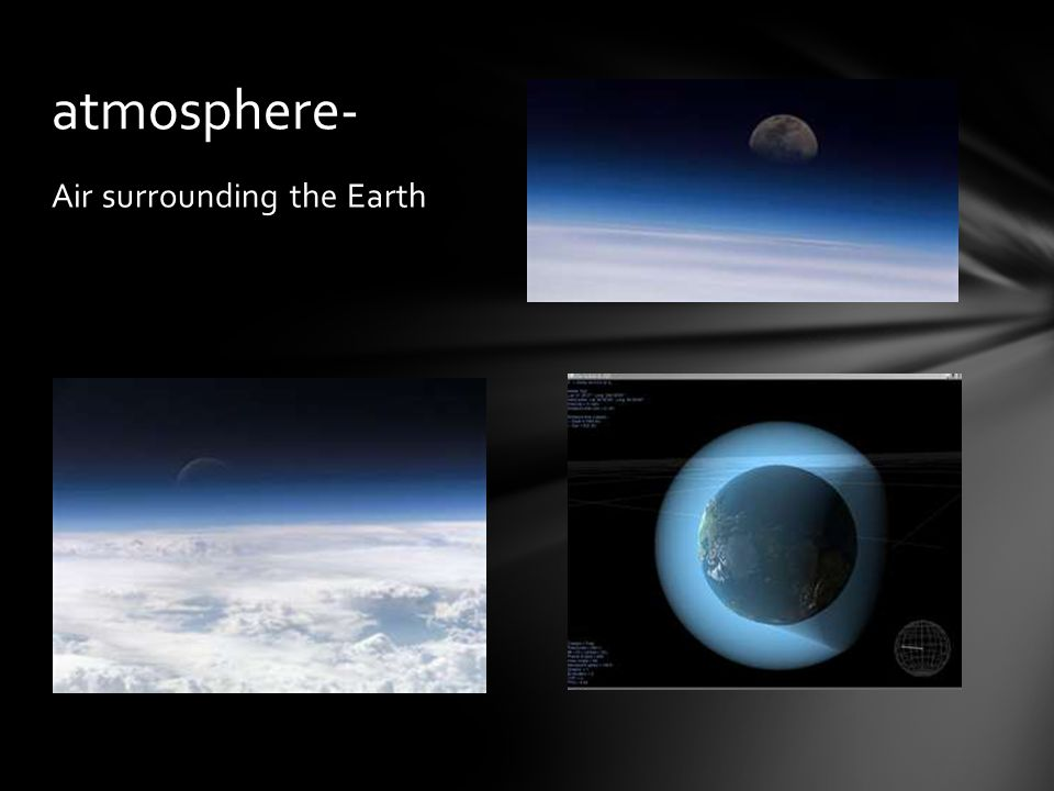 Air surrounding the Earth atmosphere-