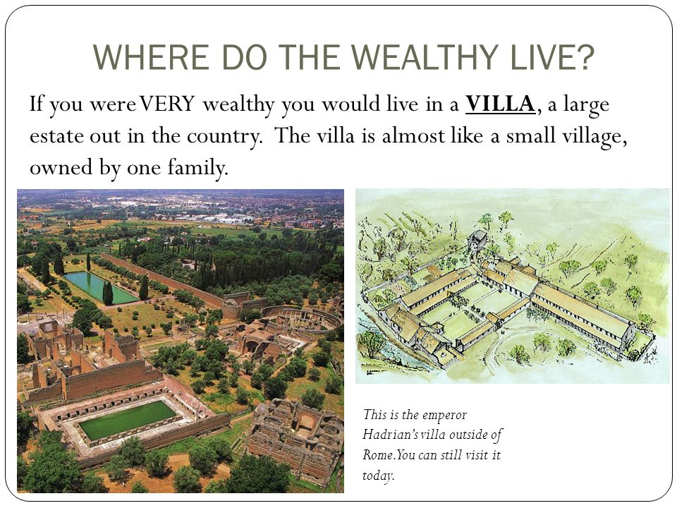 WHERE DO THE WEALTHY LIVE.