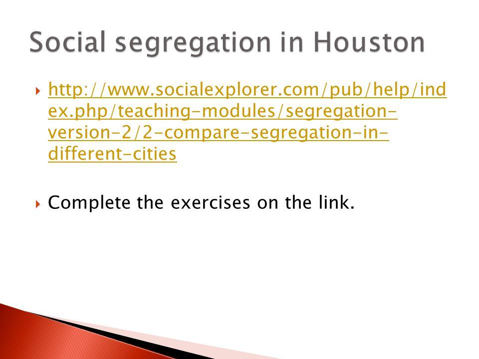 http://www.socialexplorer.com/pub/help/ind ex.php/teaching-modules/segregation- version-2/2-compare-segregation-in- different-cities http://www.social