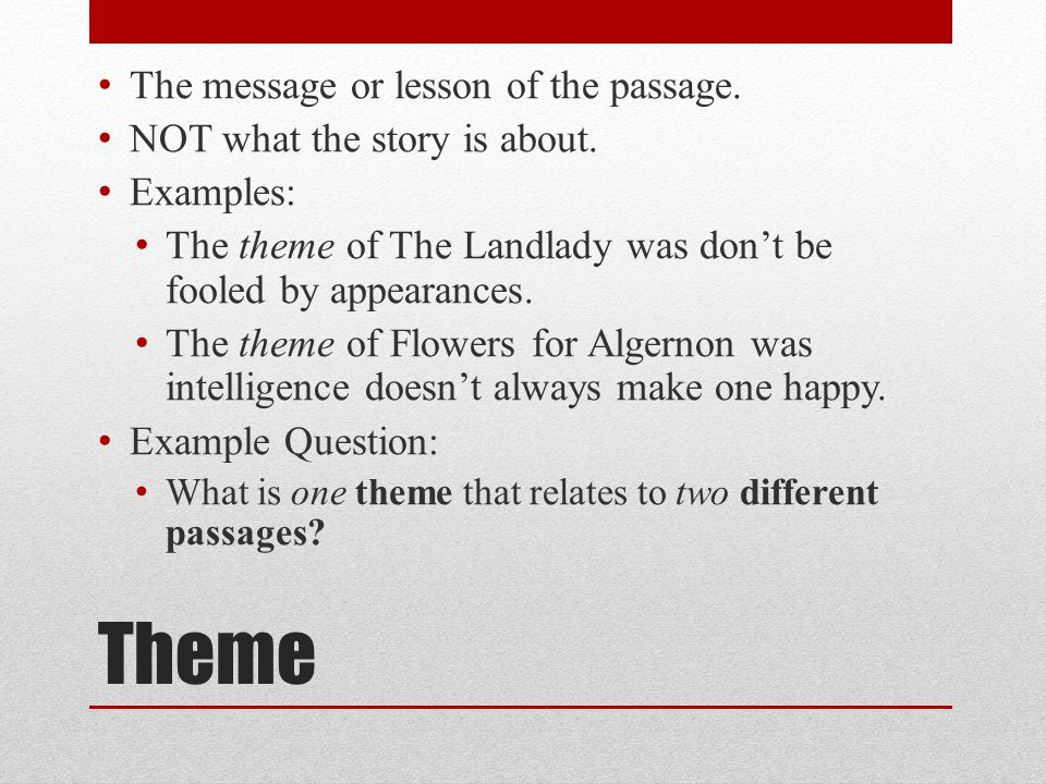 la final review monday point of view first person 11 theme