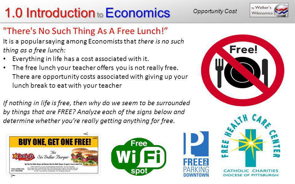 1.0 Introduction to Economics