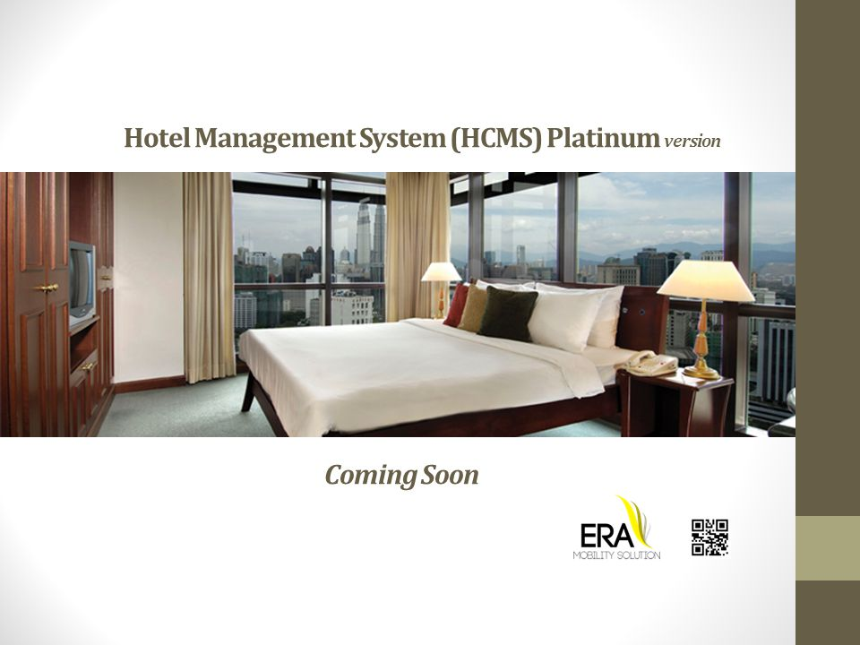 Hotel Management System (HCMS) Platinum version Coming Soon