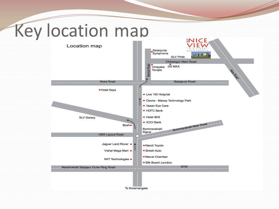 Key location map