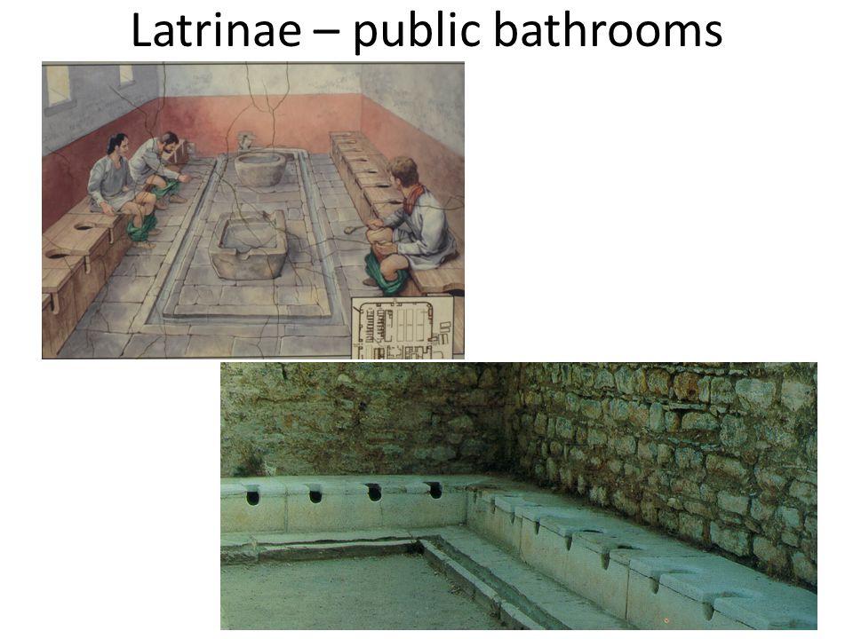 Latrinae – public bathrooms
