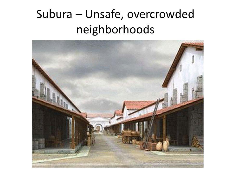 Subura – Unsafe, overcrowded neighborhoods